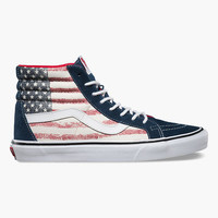 Vans Americana Sk8-Hi Reissue Womens Shoes Red/White/Blue  In Sizes