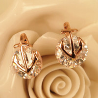Anchor and Bright CZ Earrings