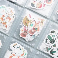 36-40 pcs/lot Cute cartoon animal paper sticker package DIY diary decoration sticker album scrapbooking kawaii stationery 01
