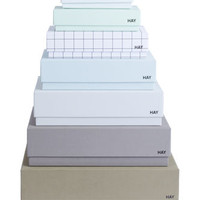 Box Box Desktop Box - Set of 7 boxes One set / male: khaki, green, anthracite grey, light grey, turqu by Hay
