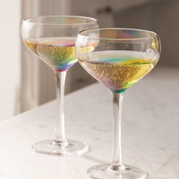 Rainbow Coupe Glass - Set Of 2 | Urban Outfitters