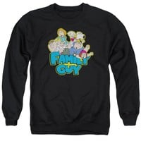 Family Guy - Family Fight Adult Crewneck Sweatshirt