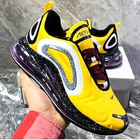 Air Max 720  Nike  New Fashion Men Casual Air Cushion Sport Running Shoes Sneakers Yellow