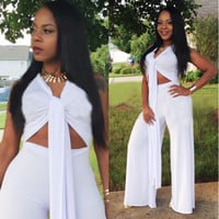 Fashion solid color big yards Jumpsuits