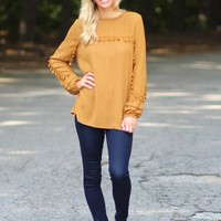 Time Of Your Life Top in Mustard | Monday Dress Boutique