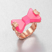 Marc by Marc Jacobs - Bownanza Resin Bow Ring/Pink