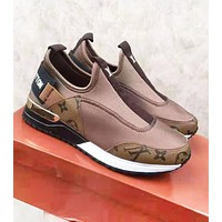 Louis Vuitton LV New Fashion Letter Monogram Print Sports Leisure Shoes Coffee