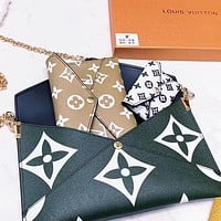 Louis Vuitton LV New Women Leather Handbag Tote Shoulder Bag Crossbody Satchel Three Piece Set