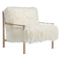 Axel Fur Accent Chair - Champagne | Natural Del Mar Living Room Inspiration | Living Room | Inspiration | Z Gallerie