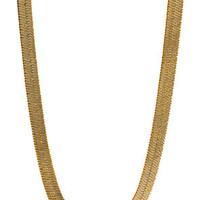 11mm 14K Gold Herringbone Chain