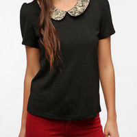 Urban Outfitters - Pins and Needles Brocade Collar Top