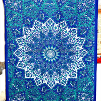 Twin Hippie Star Tapestries , Psychedelic Tapestry