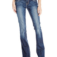 Miss Me Junior's Embellished Dark Wash Bootcut Jean