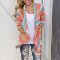 Block 3/4 Sleeve Cardigan