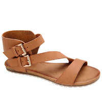 Strap Me In Sandals - Tan