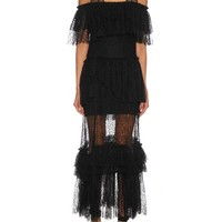 Tiered lace gown   Sonia Rykiel   MATCHESFASHION.COM US