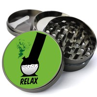 Relax Extra Large 4 Chamber Spice & Herb Grinder With Microfine Screen