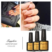 Hot Sale Sapphire Matt Top Coat Nail Art UV Gel Polish Matte Top coat LED UV Soak Off Nails Tools UV Gel Polish