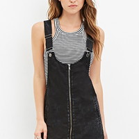 Zipped Overall Dress