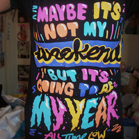 all time low, cute, quotes, shirt, teen - inspiring picture on Favim.com