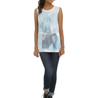 Disney Cinderella Sublimation Silhouette Girls Muscle Top