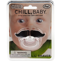 Fred & Friends Chill Baby Mustache Pacifier Black One Size For Men 19842315001