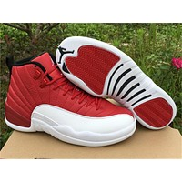Air Jordan 12 Gym Red Basketball Shoes 40-47