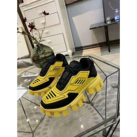 PRADA 2021 New Color Leather Ladies Platform Loafers Casual Sneaker Sports Shoes YELLOW