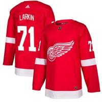 Men's Detroit Red Wings Dylan Larkin adidas Red Authentic Player Jersey