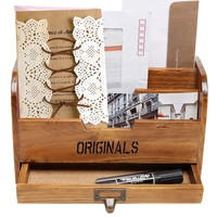 Wooden Home Office Mail Organizer