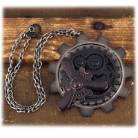 elope Propeller Gear Steampunk Necklace