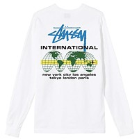 International Long Sleeve T-Shirt White