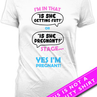 Pregnancy Announcement T Shirt Funny Pregnancy Shirt Yes I'm Pregnant Mom Gifts Maternity T Shirts Pregnancy Outfits Ladies Tee MAT-628