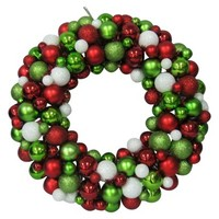 "Shatterproof Ornament Wreath - Red/Green (16"")"