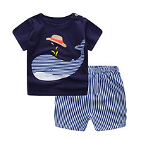Baby Boy Summer Cotton Clothes Set 267