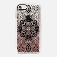 Gypsy Lace in Black on Transparent iPhone 7 Case by Micklyn Le Feuvre | Casetify