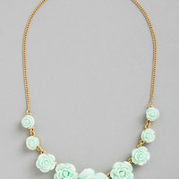 ModCloth Pastel Bead of Roses Necklace in Mint