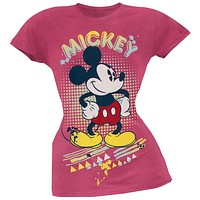Mickey Mouse - Retro Splatter Juniors Soft T-Shirt
