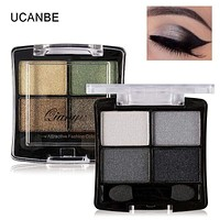 Women 4 Colors Glitter Eye shadow Palette With Applicator