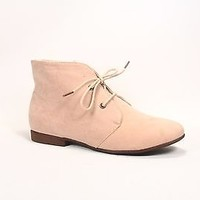 Women's Boots Ankle Flat Heel Xoford Lace Up Round Toe Shoes Size 5.5 - 11 New
