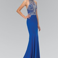 Sparkly royal blue prom dress  gls 1301