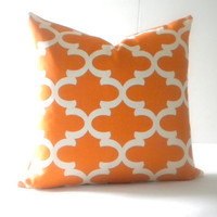 Tangarine tile pattern pillow cover, fabric both sides