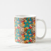 Cute Modern Spring Flowers Pattern Girly Floral Coffee Mug