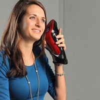 """U.K. Artist Upcycles Vintage Shoes, Obsolete Cellphones Into Literal """"Walkie Talkies"""" 