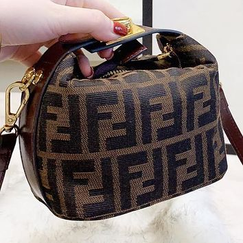 Fendi New fashion more letter canvas handbag shoulder bag women crossbody bag
