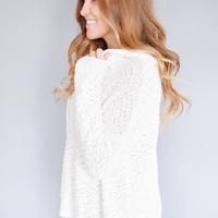 Snow Fall Hooded Sweater Ivory