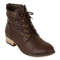 Brooke Braided Shortie Boots