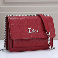 Dior Fashion Leather Crossbody Satchel Shoulder Bag