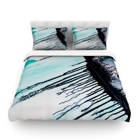 "Steve Dix ""Extractions"" Teal Black Featherweight Duvet Cover"