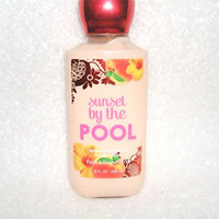 Bath & Body Works Sunset By the Pool Shea & Vitamine Body Lotion 8 Fl Oz.blushing Jasmine Apricot Nectar Driftwood Musk